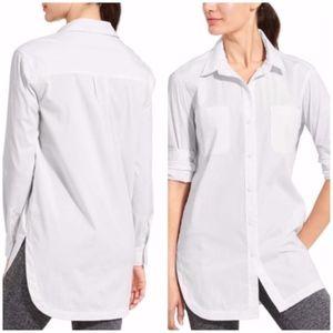 Athleta  Long and Lean 2.0 button down shirt